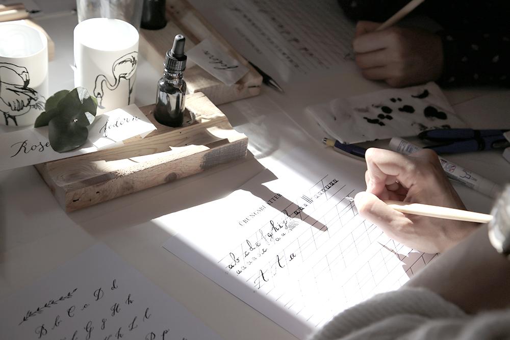29 Kalligraphie Workshop Jeanette Mokosch | Villa Lotta (Lisa Jagenteufel) | Photograph (c) Maria Weiss