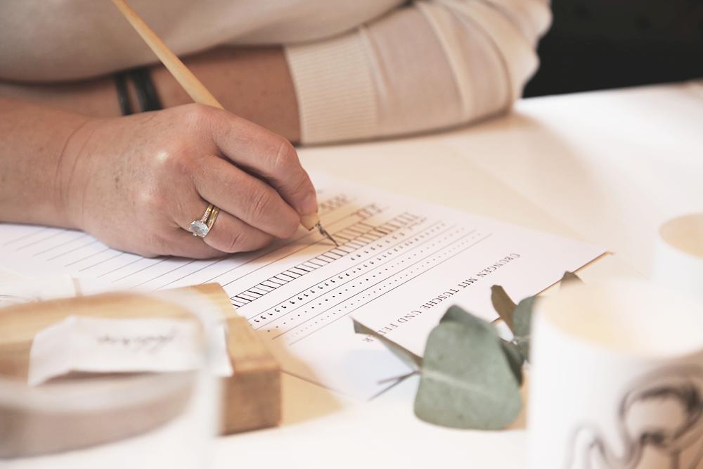 8 Kalligraphie Workshop Jeanette Mokosch | Villa Lotta (Lisa Jagenteufel) | Photograph (c) Maria Weiss