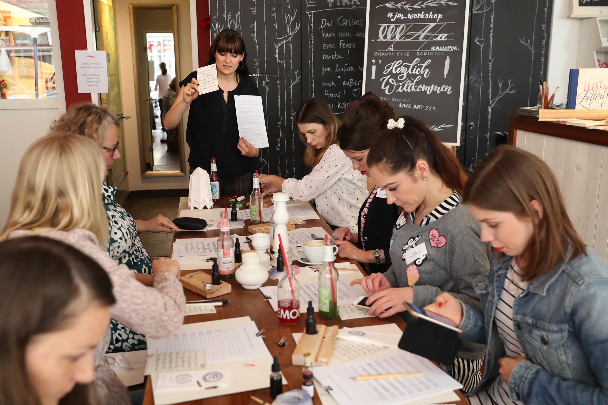 Bloggertreffen Hamburg Kalligrafiekurs
