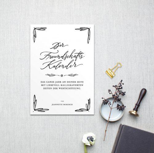 Kalligrafie Freundschaftkalender Geburtstagskalender
