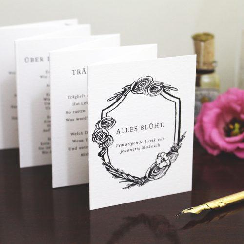 Gedichte Kalligrafie Jeannette Mokosch
