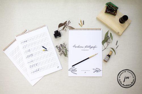Kalligrafie lernen mit dem Übungsheft für Anfänger
