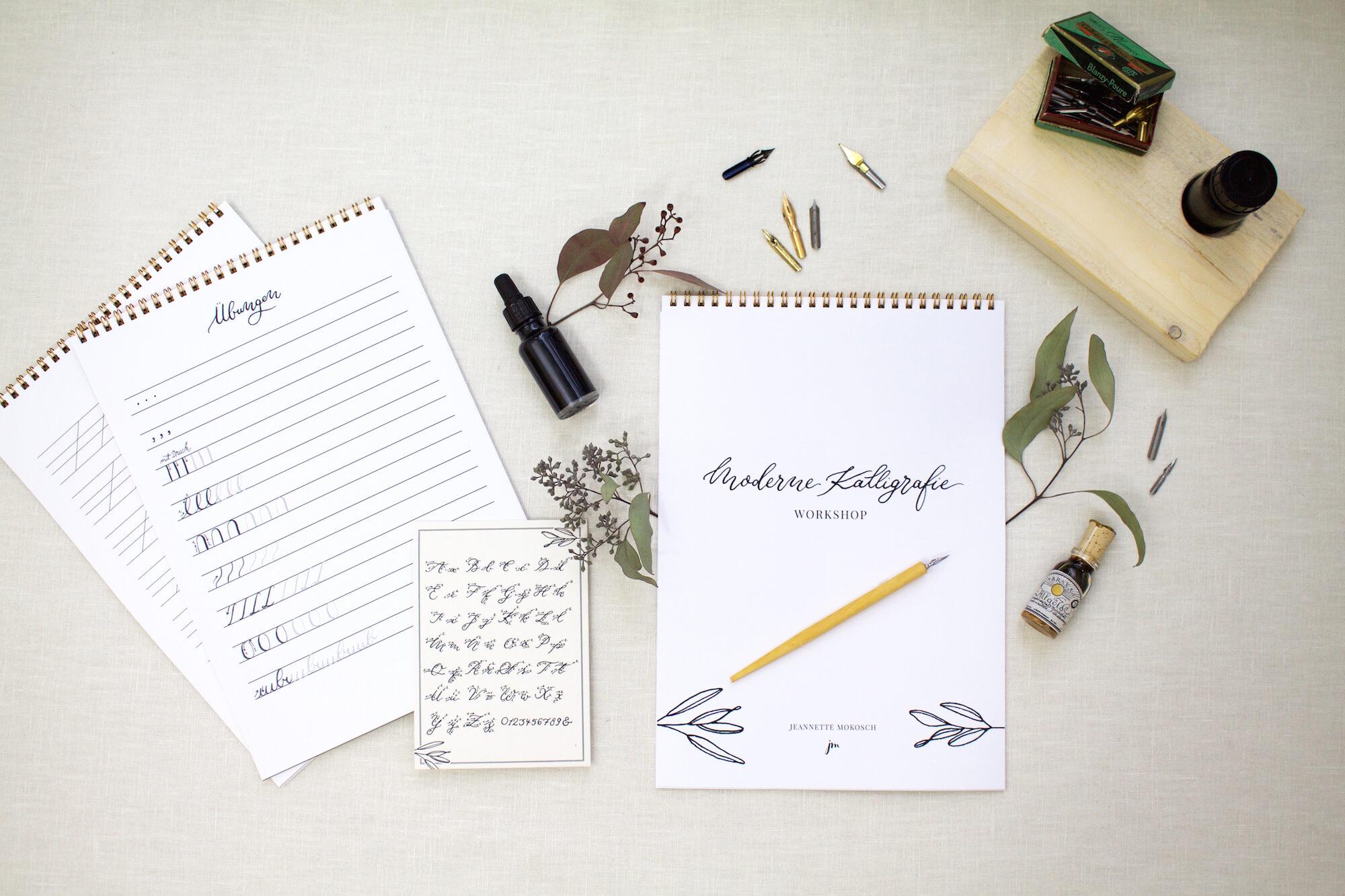 Moderne Kalligraphie lernen mit dem Starter Set für Anfänger