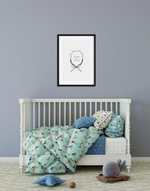 Kalligraphie Kunstdruck Fine Art von Jeannette Mokosch / Kinderzimmer