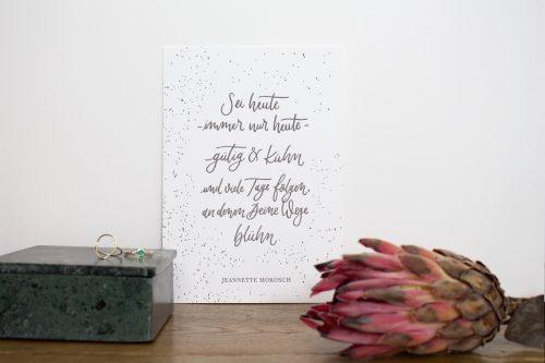 Fine Art Letterpress Kunstdruck Kalligrafie