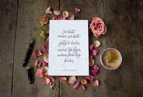 Letterpress Tiefdruck Spruch Quote Gedicht Hand Lettering Kalligrafie Kalligraphie Modern Calligraphy Fine Arte Print Kunstdruck Valentinstag