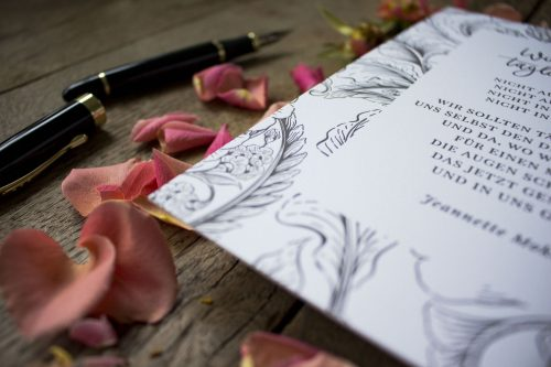 Fine Art Letterpress Print Kunstdruck Reisen Gedicht Kunstdruck grau Travel Urlaub Geschenk