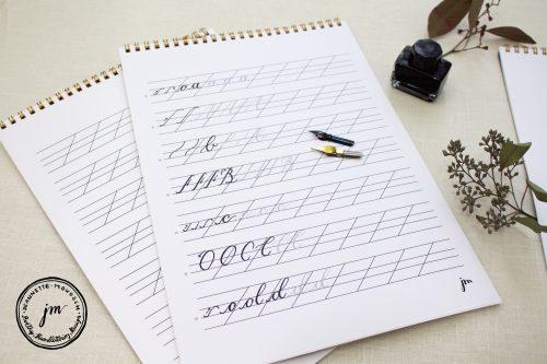 Kalligraphie lernen mit dem Übungsheft für Beginner