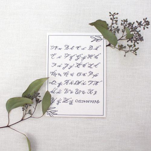 Kalligraphie Hand Lettering Alphabet ABC