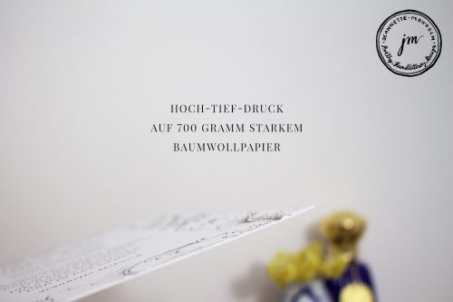 Fine Art Letterpress Luxus Kunstdruck Kalligrafie