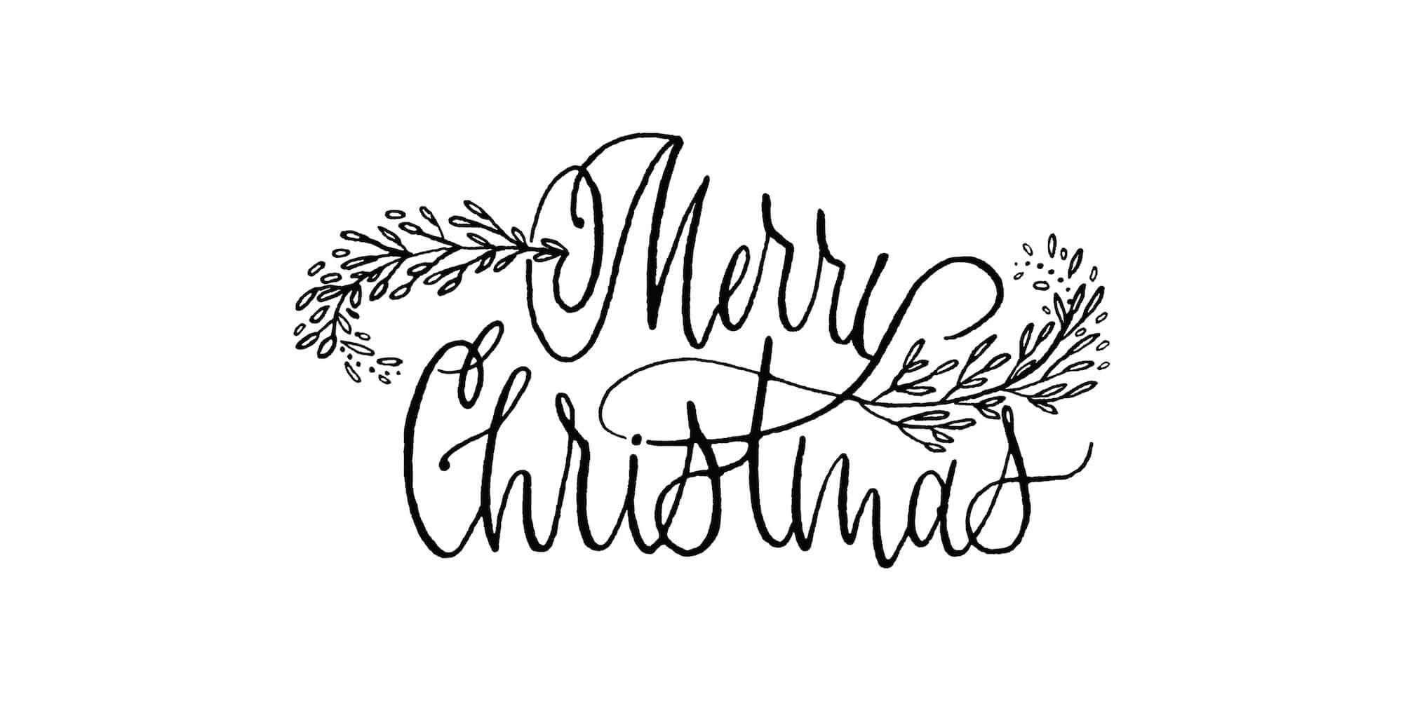 Bildergebnis für merry christmas schriftzug