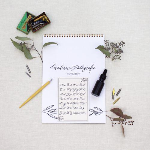 Kalligraphie Set / Moderne Kalligraphie lernen mit dem Starter Set für Anfänger
