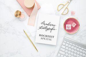 Einladungen, Menükarten, Papeterie, Platzkarten, Save The Date Kalligraphie Luxus Gold Seidenband