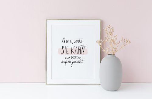 Kunstdruck Büttenpapier Aquarellpapier Spruch Quote Hand Lettering