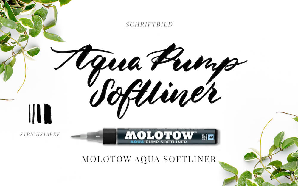 Brushlettering, Kalligraphie, Brush Lettering, Typography, Typo, Pinselstifte, Pinselschrift, Hand Lettering, Molotow Aqua Pump Softliner