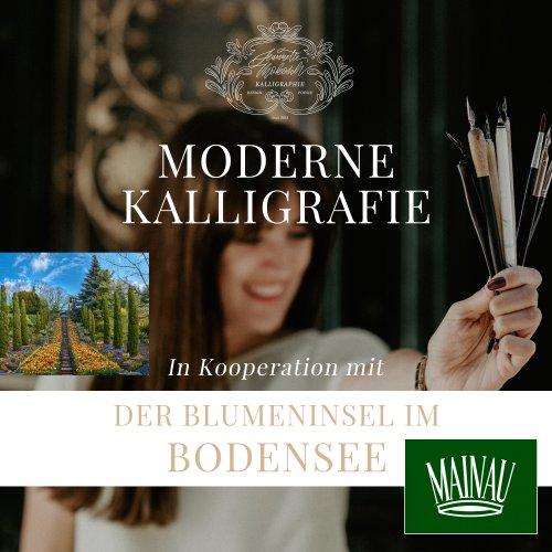 Bodensee Kalligrafie Kurs Workshop Kalligraphie Hand Lettering Süddeutschland Stuttgart Insel Mainau Baden Württemberg