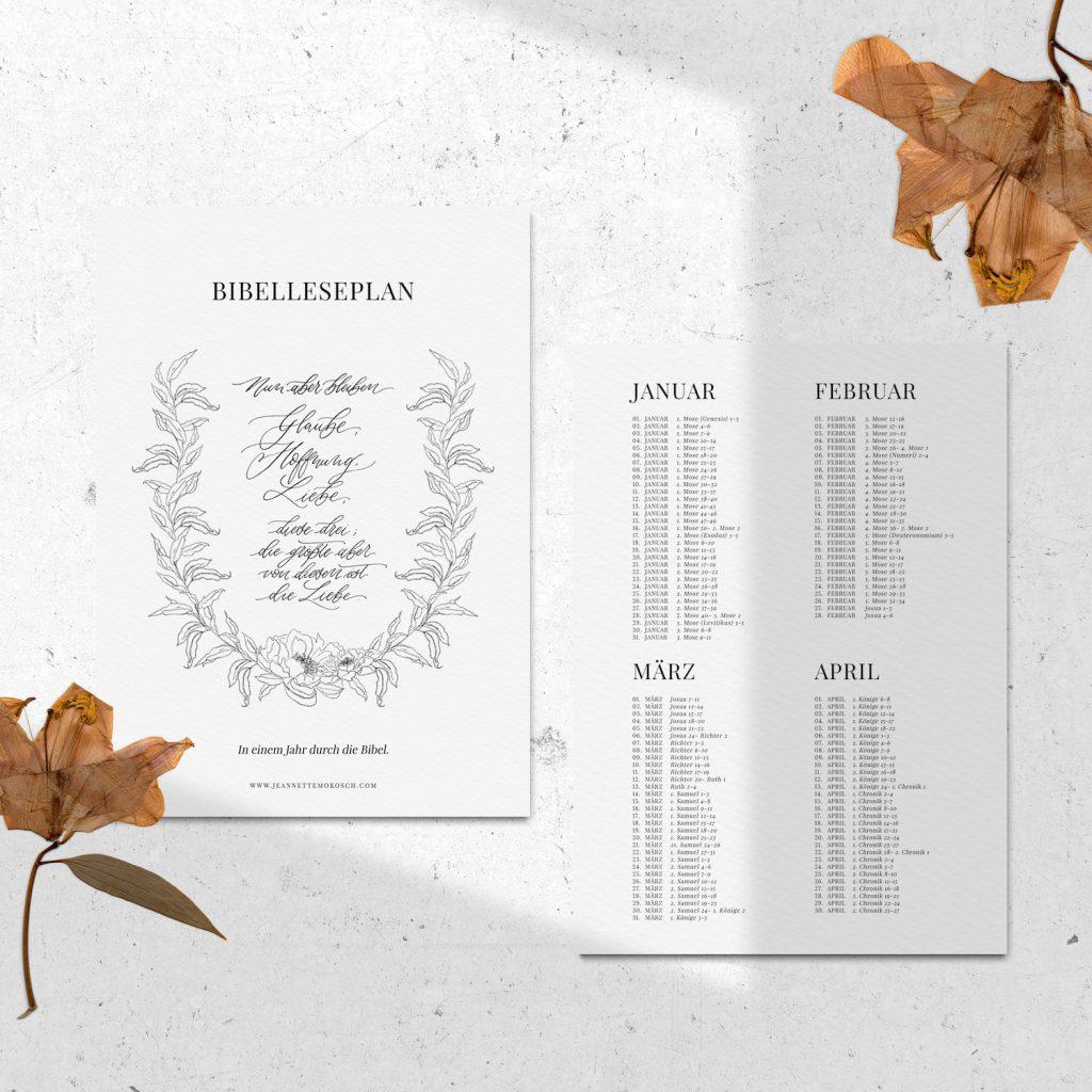 Bibelleseplan 2019 Ganze Bibel Jahresplan Bibel Bibellesen