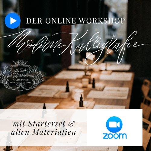 Online Workshop Moderne Kalligraphie Kalligrafie Hand Lettering Zoom