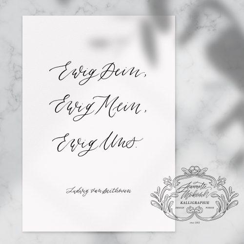 Spruch Zitat Vers Bibelvers Trauvers Kalligrafie Kalligraphie Handlettering Brushlettering Schönschrift Handschrift Anfertigung Hochzeit Geschenk