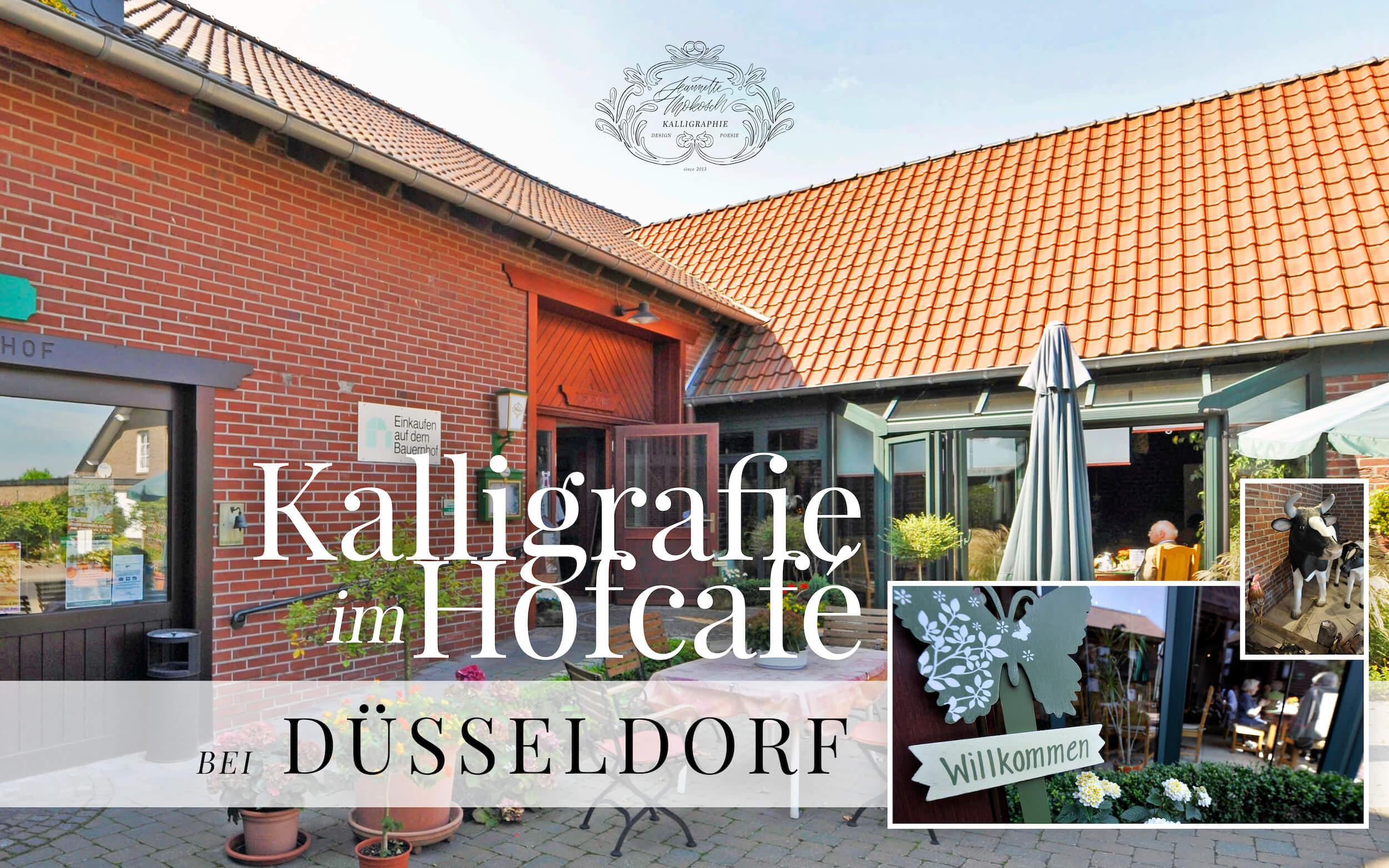 Kalligrafie Kalligraphie Hofcafé Workshop Kurs Lettering Düsseldorf Genholter Hof