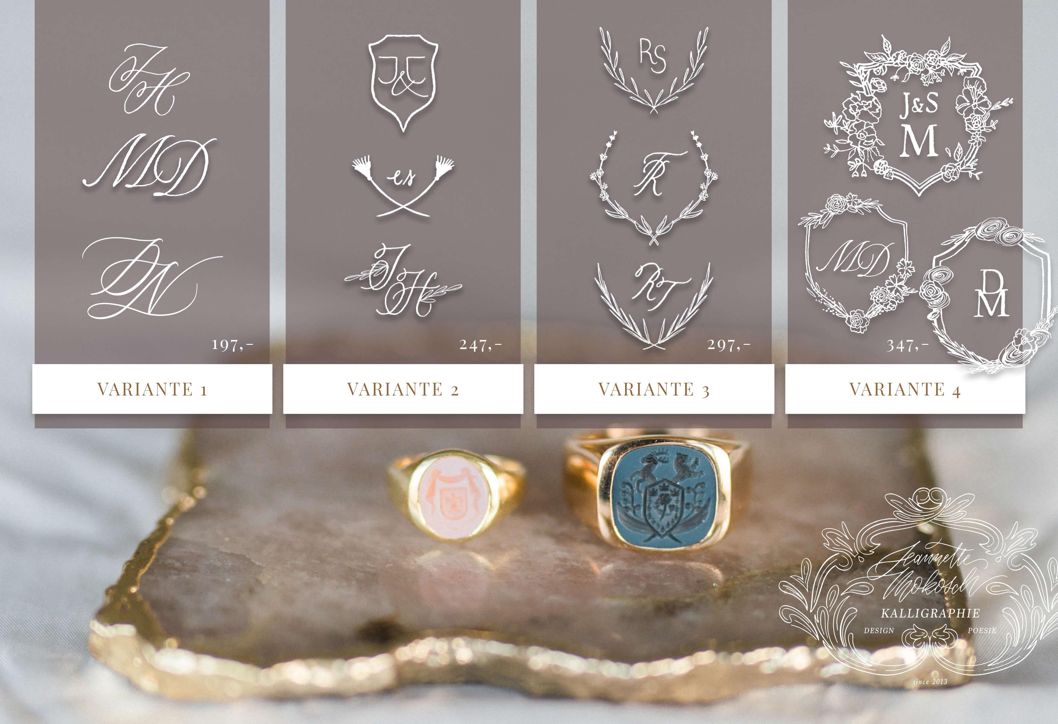 Monogramm Hochzeitslogo Hochzeitswappen Wappen Familienwappen Logo Heiraten Initialen Kalligraphielogo Kalligraphie Kalligrafie