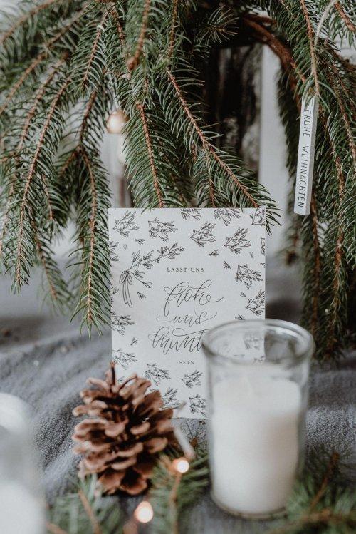 Weihnachtskarte Kalligrafie Kalligraphie Hand Lettering