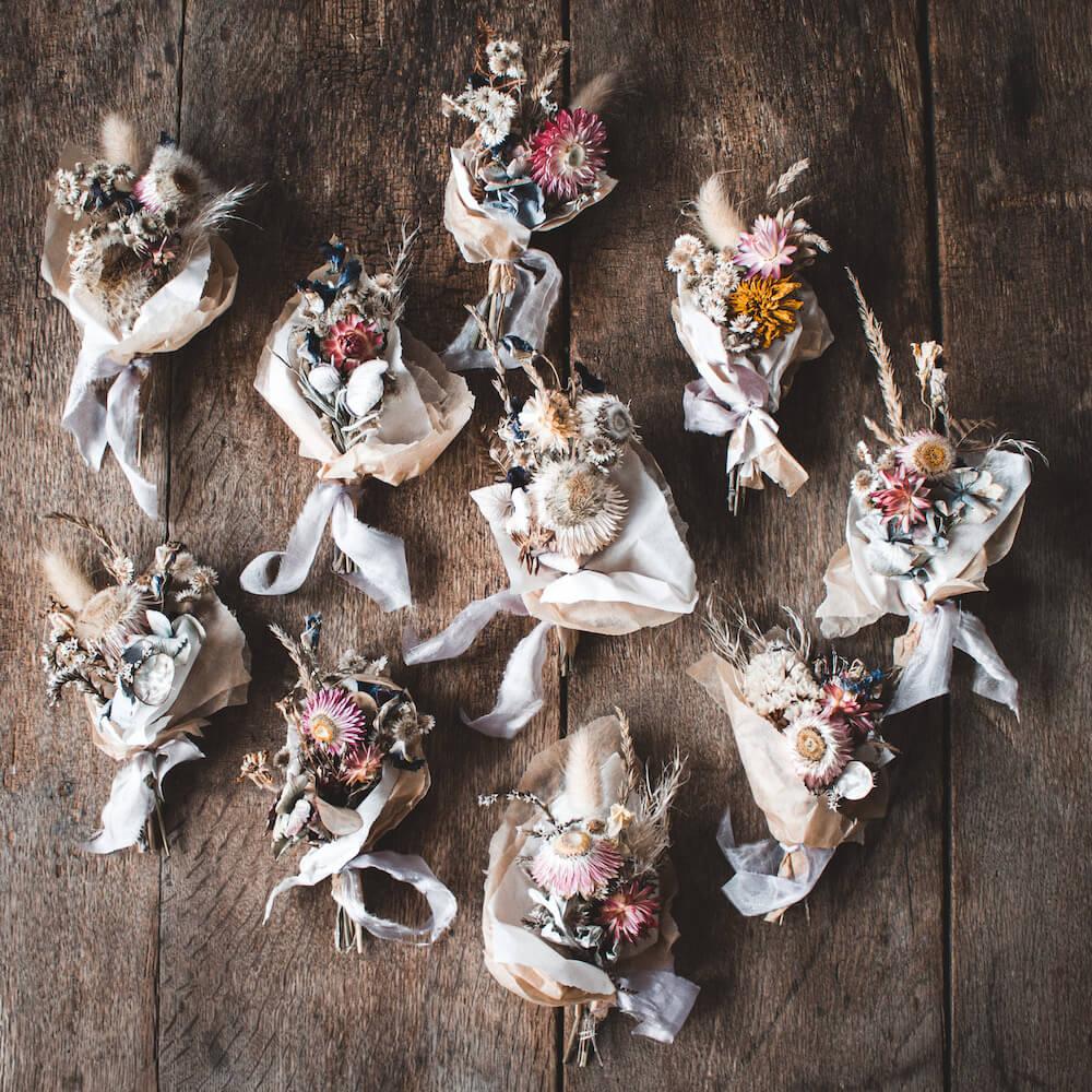 Trockenblumen Strauß Mini Tüte Bouquet Seide Muttertag Geschenk