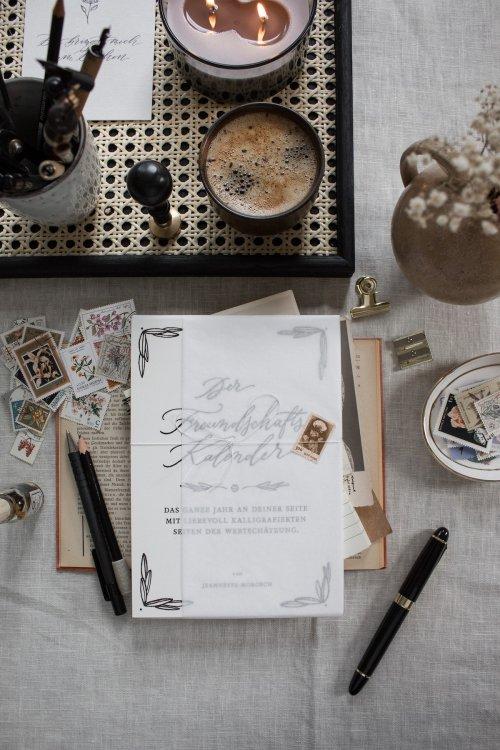 Kalender Geburtstagskalender Geschenk Freundin Mama Kalligrafie Kalligraphie Hand Lettering Sprüche Freundschaft Freundin